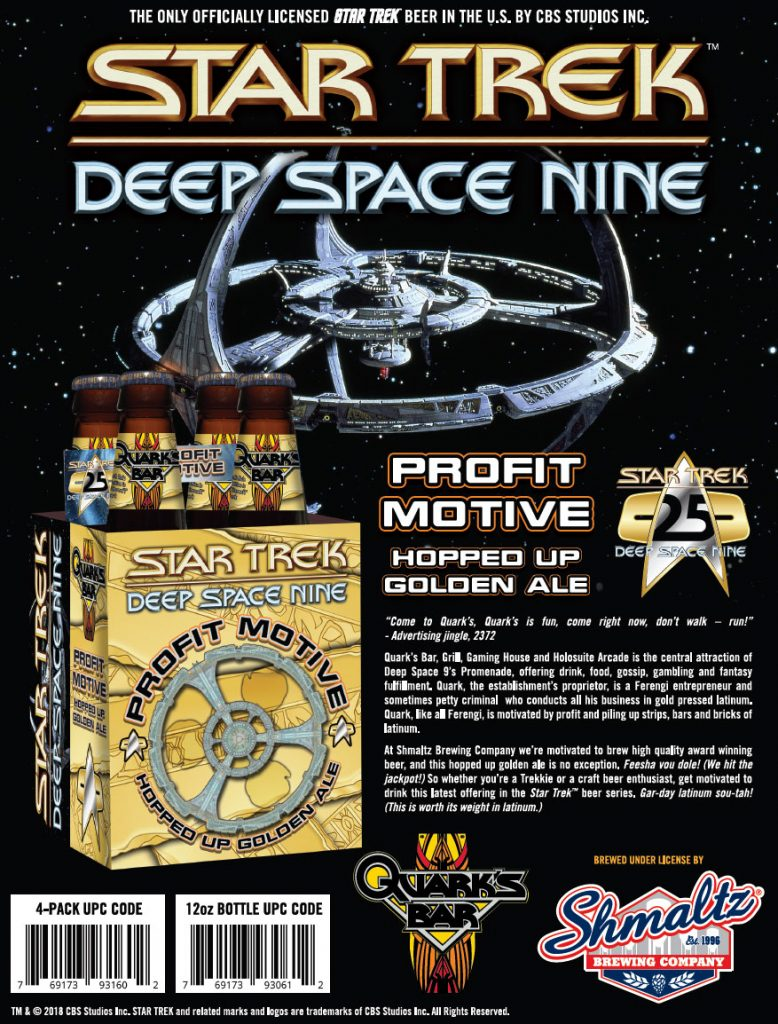 beer sellsheet 778x1024 New DEEP SPACE NINE Themed Beer to Debut at STLV