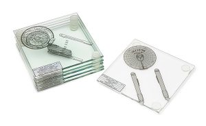 iskg st uss enterprise coasters 300x184 Star Trek Enterprise Coasters Set of 6