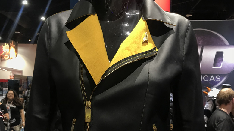 udreplicas yellow jacket head 777x437 SDCC18: UD Replicas Debuts Star Trek Line With Motorcycle Style Fashion Jackets